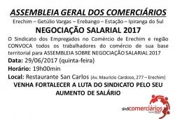 Assembleia Geral dos Comerciários - Sobre Campanha Salarial 2017