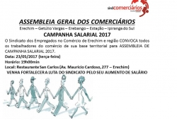 Assembleia Geral dos Comerciários - CAMPANHA SALARIAL 2017